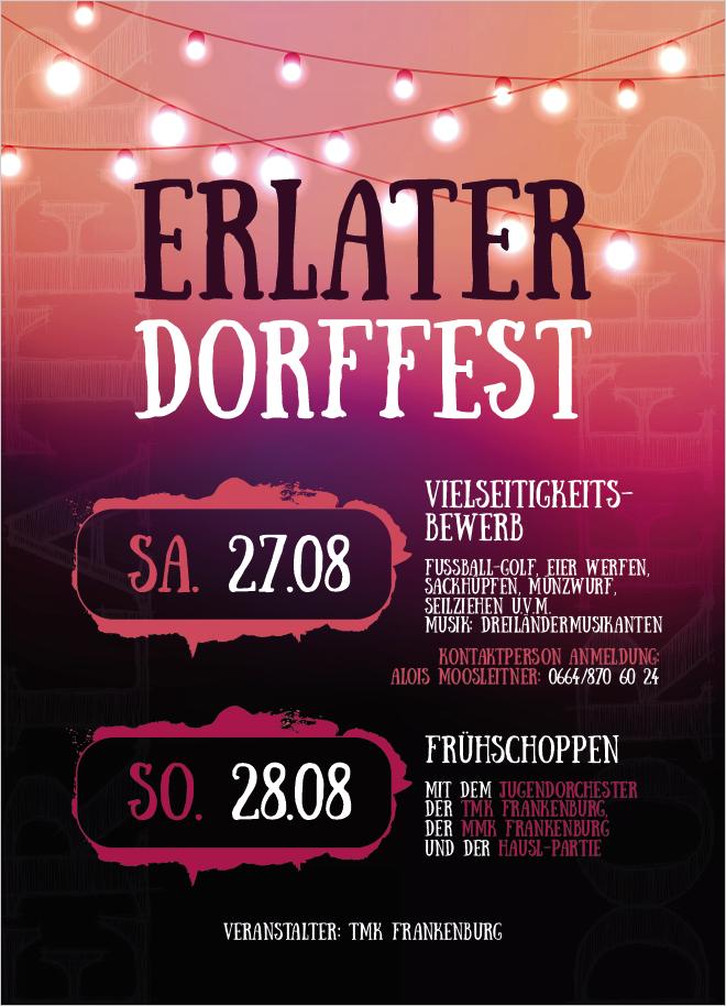 Flyer Dorffest 2016